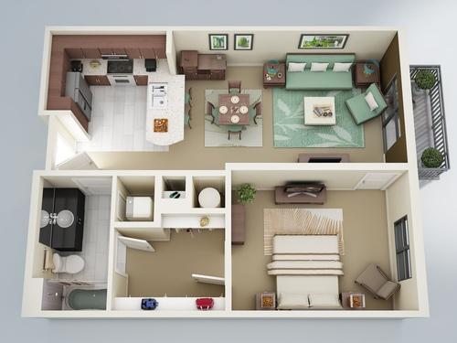 Едностайни апартаменти – планове и идеи