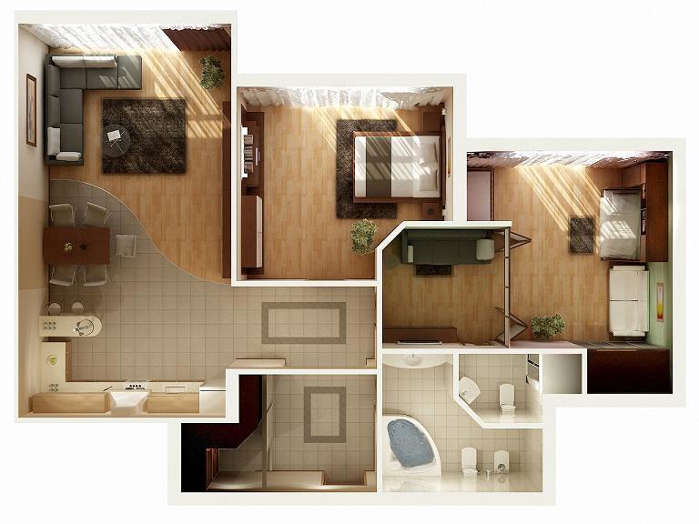 Двустайни апартаменти – планове и идеи
