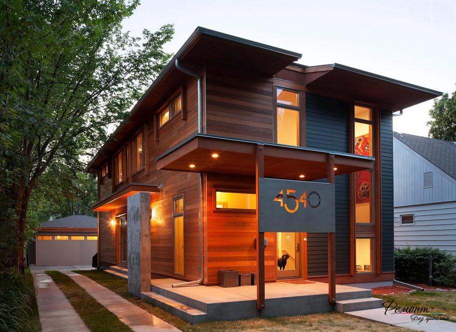 Дизайнът на фасадата на една къща: най-добрите идеи за екстериора